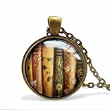 Best Asa Gifts For Lovers - Book Necklace - Book Jewelry - Librarian Pendant Review