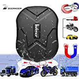 ZEERKEER Hidden Vehicles GPS Tracker,90 Days Standby Real-time Tracking Anti-theft GPS Locator with Electric Fence Alarm on Free APP for Car/Motorcycle/Trucks/Bike/Fleet/Boat 5000mAH(TK905)