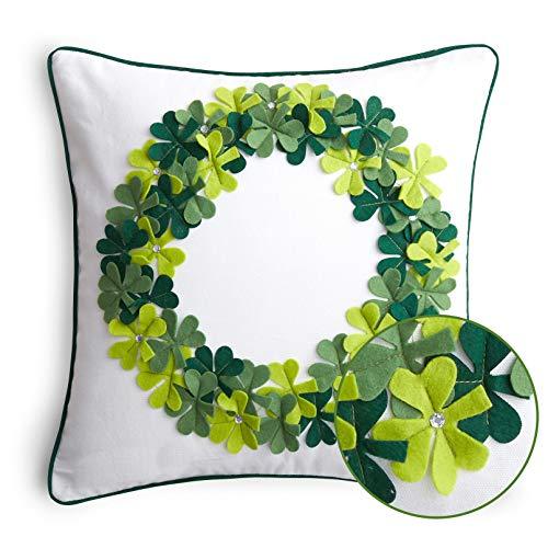 Cassiel Home St Patricks Day Pillow Covers 18x18 Green Irish