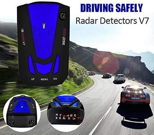 City//Highway Mode 360 Degree Detection Radar Detectors with LED Display for Cars Radar Detector by Jackshop,Voice Alert and Car Speed Alarm System FCC Approved