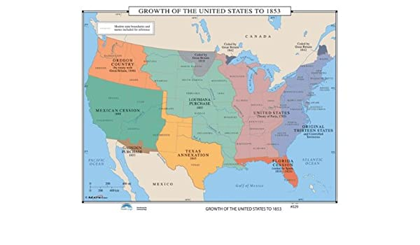 Amazon.com : Universal Map U.S. History Wall Maps - Growth ...