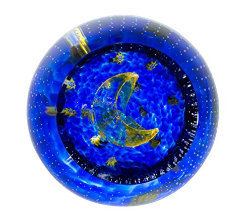 (Caithness Glass Sentiments - to The Moon and Back Paperweight)