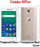 Gionee S6s Curved Tempered Glass and Transparent Back Cover Combo By Case Cover