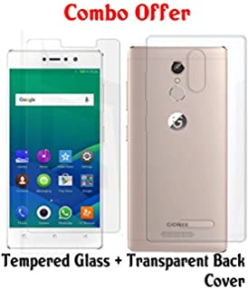 fd1b8e98ca6 Casecover Curved Tempered Glass and Transparent Back Cover for Gionee S6s