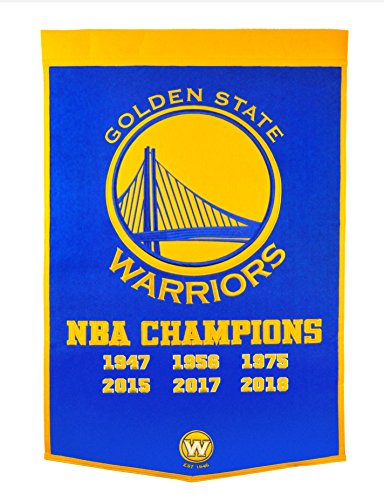 Winning Streak Golden State Warriors 2018 NBA Champions Dynasty Banner (Nba Championship Banner)