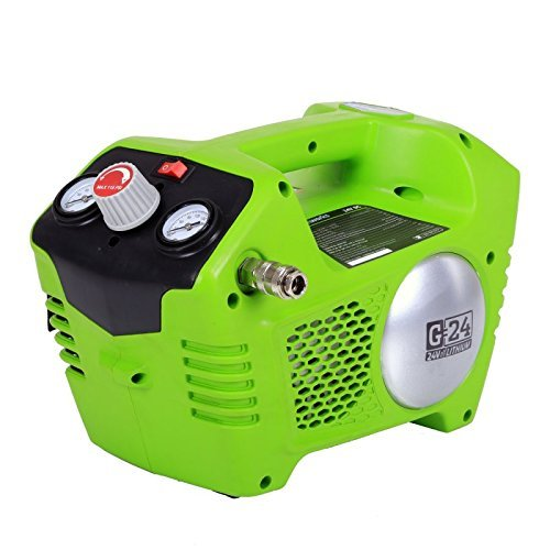 Greenworks 24V 115 PSI Cordless Air Compressor, 2.0 AH Battery Included 41572