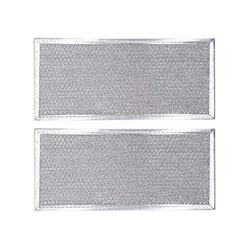 AMI PARTS W10208631A Filter Aluminum Mesh Microwave Oven Grease Filter Compatible with Whirlpool, 2-Pack,12-15/16