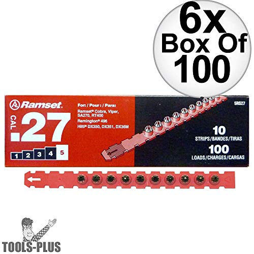27 Cal Load Strip - Ramset 5RS27 10 Strips of 10 (600 total) #5