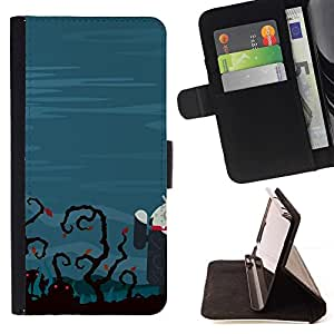 DEVIL CASE - FOR Samsung Galaxy S3 Mini I8190Samsung Galaxy S3 Mini I8190 - Funny Zombie Tech - Style PU Leather Case Wallet Flip Stand Flap Closure Cover