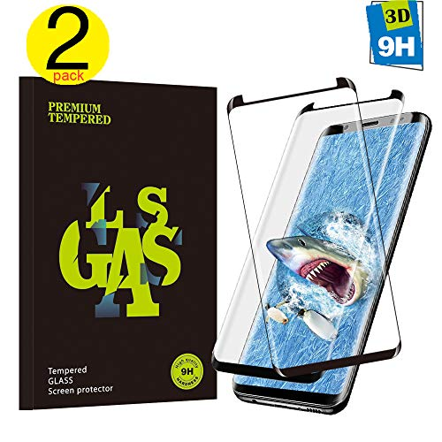 Galaxy S8 Plus Screen Proetctor, [2-Pack] Cavalrywolf Premiun 3D Tempered Glass [Full Coverage] [Scratch Terminator] [Ultra Clear] [9H Hardness] Screen Protector for Samsung Galaxy S8 Plus