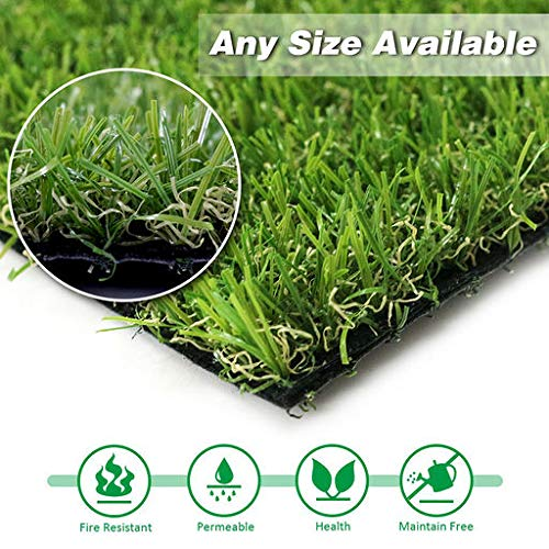 (GL Artificial Grass Turf Customized Sizes, Artificial Lawn for Dogs, 20MM Thick Faux Grass, Synthetic Outdoor Indoor Rug Area 9FTX15FT(135 Square FT))