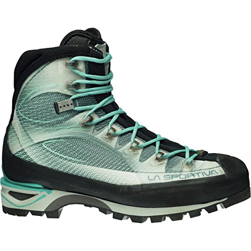(La Sportiva Trango Cube GTX Mountaineering Boot - Women's Light Grey/Mint, 43.0)