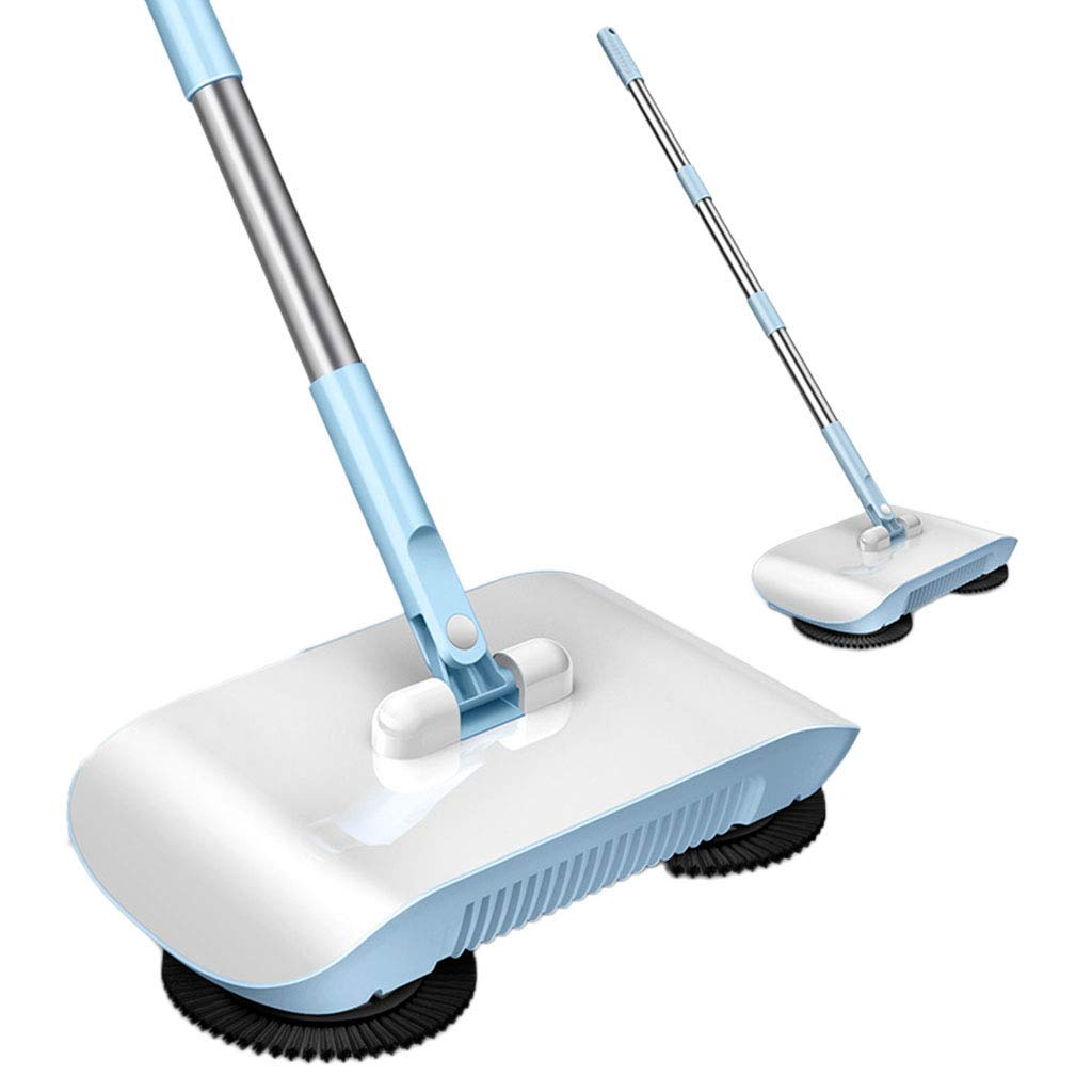 WLQWER Hand Push Sweeper Home Broom Hoe Mopping Machine Gift Mop Sweeping Machine Usage on Hardwood, Laminate, Tile,B by WLQWER