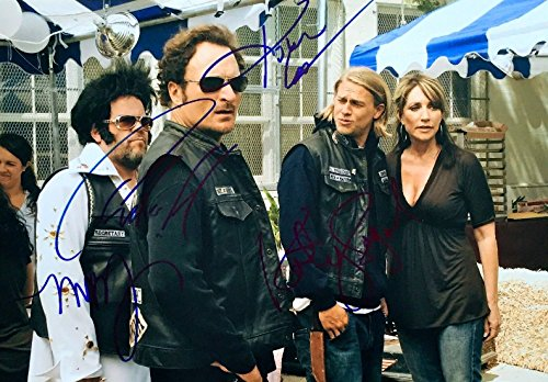 SONS OF ANARCHY Designate - CHARLIE HUNNAM KATEY SAGAL MARK BOONE JR & KIM COATES - 4x Signed 11x14 Photograph in Mint Condition PSA COA PROOF