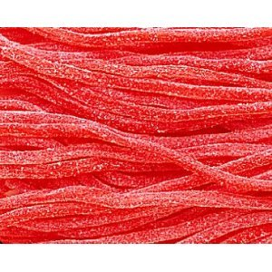 Sour Strawberry Licorice Laces (2 lb. bag) - 2 lb. bag