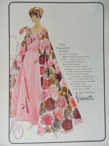 New Yorker Dresses - Hollywood Vassarette, 60's Full Page Color Illustration, 8 1/2