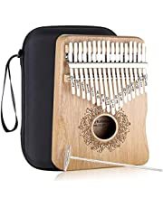 $24 » Kalimba Thumb Piano 17 Keys - MISM Carlimba African Mbira Solid Wood Hand Held Thumb Finger Piano with Engraved Notes Stereo Sound Box Musical Instrument Gift for Kids Adult Beginners