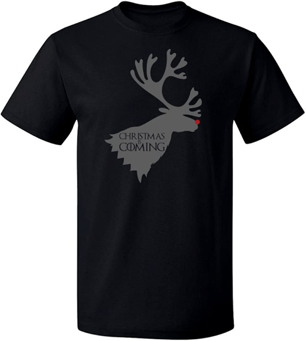 T-Shirt Paradise Christmas Game of Thrones Inspired Rudolph Christmas is Coming Graphic Design Hoodie