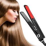 Cheap Hair Straightener, Mengyasi LCD Flat Iron for Hair with Ceramic Tourmaline Straightening Iron with Temp Setting,Heat Up Fast 450F Auto Shut Off Salon Hair Straightener