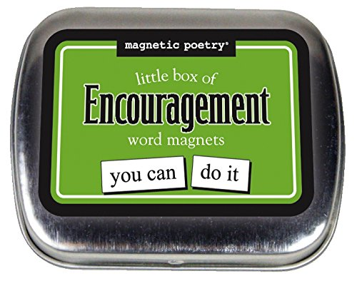 Magnetic Poetry – Little Box of Encouragement – Words for Refrigerator – Write Poems and Letters on the Fridge