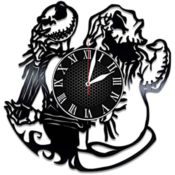 Amazon com: Jack and Sally Vinyl Clock Gift for Nightmare Before