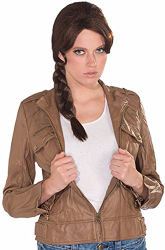 Forum Novelties Women's Survivor Braid Costume Wig, Brown, One Size (The Hunger Games: Catching Fire Katniss Costume For Women)