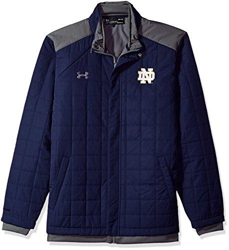 Under Armour NCAA Notre Dame Fighting Irish Men's 3-in-1 Twill Jacket, Medium, Navy
