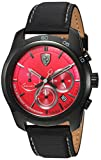 Ferrari Men's 830447 Sport Primato 70th Anniversary 44mm Chrono Ss Case Black Kevlar Strap Red Dial Watch