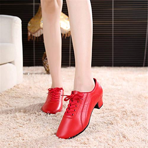 Fondo Baile Adulto 28 5cm de para de Mujer Latino Suave de Cuero tamaño de 0cm Rojo 0cm con Altura Hutt Zapatos 3 Baile 22 de Zapatos FAEw0qgg