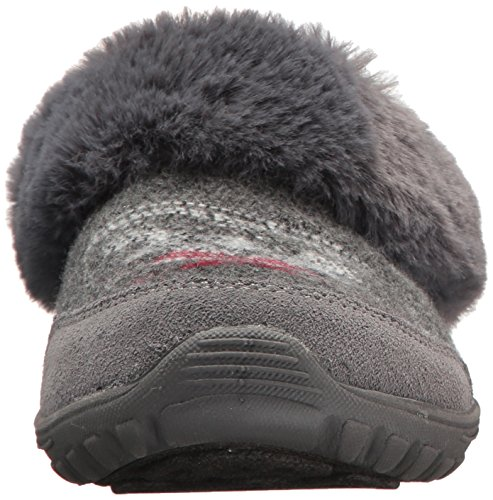 Scuff Women's Charcoal Higher Skechers Fest Reggae Level Slipper Zpqng6