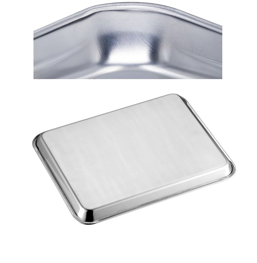 Heavy Duty /& Healthy Neeshow Stainless Steel Toaster Oven Pan Tray Ovenware Professional Superior Mirror Finish Dishwasher Safe,Set of 2 Deep Edge