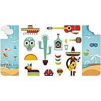 DIYthinker Sombrero Tequila Guitarra Chili México Elment Placa de Licencia decoración de Coche Playa mar día Festivo