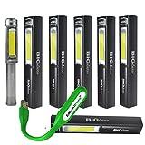 6 PACK Grey color Nebo Big Larry 400 lumen Flashlight 6306 COB LED Magnetic Worklight with EdisonBright USB powered reading light bundle