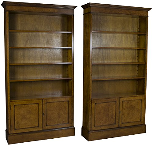 English Classics Burl Walnut Pair of Bookcases