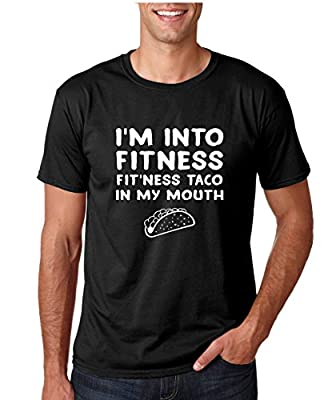 Crazy Bros Tees Fitness, Fit'ness Taco In My Mouth - Funny Taco Premium Men's T-Shirt