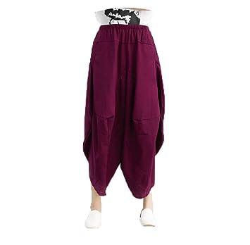GZHGF Pantalones Harem De Algodón Casual/Pantalones De Linterna Pantalones De Yoga De Danza Yoga