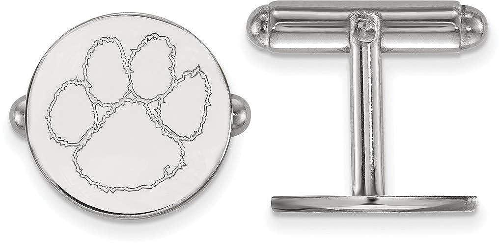 Sterling Silver Clemson University Cuff Links by LogoArt