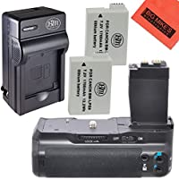 Battery Grip Kit for Canon Rebel T2i T3i T4i T5i Digital SLR Camera Includes Qty 2 Replacement LP-E8 Batteries + Vertical Battery Grip + Rapid AC/DC Charger + More!!