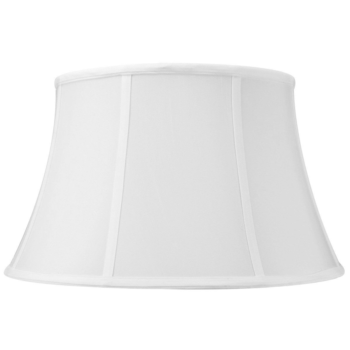 12x17x10 White Floor Shantung Lampshade with Brass Spider fitter By Home Concept - Perfect for table and Desk lamps - Medium, White