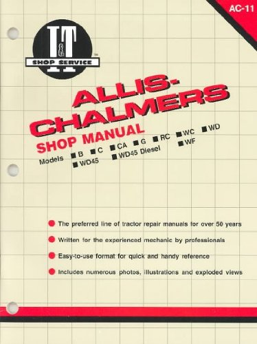 Allis-Chalmers Shop Manual/Models B Rc Wd45 Diesel C Wc Ca Wd Wf G Wd45 (I&T Shop Service Ac-11/9402568) Allis-Chalmers Shop Manual/Models B Rc Wd45 Diesel C Wc Ca Wd Wf G Wd45