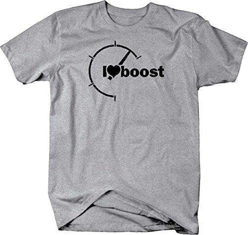 I Love Boost Turbo Rpm Compression Evo Sti Jdm Racing Tuner T Shirt   Xlarge