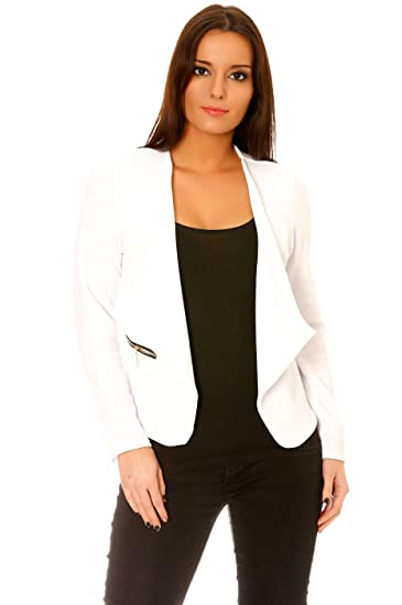 Veste de blazer femme blanche