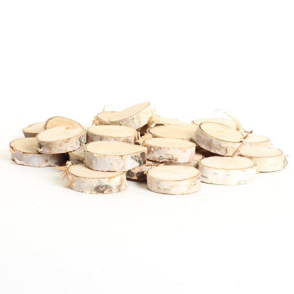 Amazon.com: Koyal Wholesale Birch Wedding Disc Rounds, Birch Slices ...