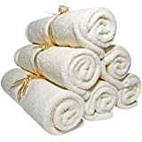"Baby Washcloths Bamboo, Organic, Luxury (6pack 10.6"") Best for Reusable Baby Wipes, Cloth Wipes, Eczema & Sensitive Skin. Baby Registry, Shower, Newborn Bath Gifts, Natural Products, Skin Care"