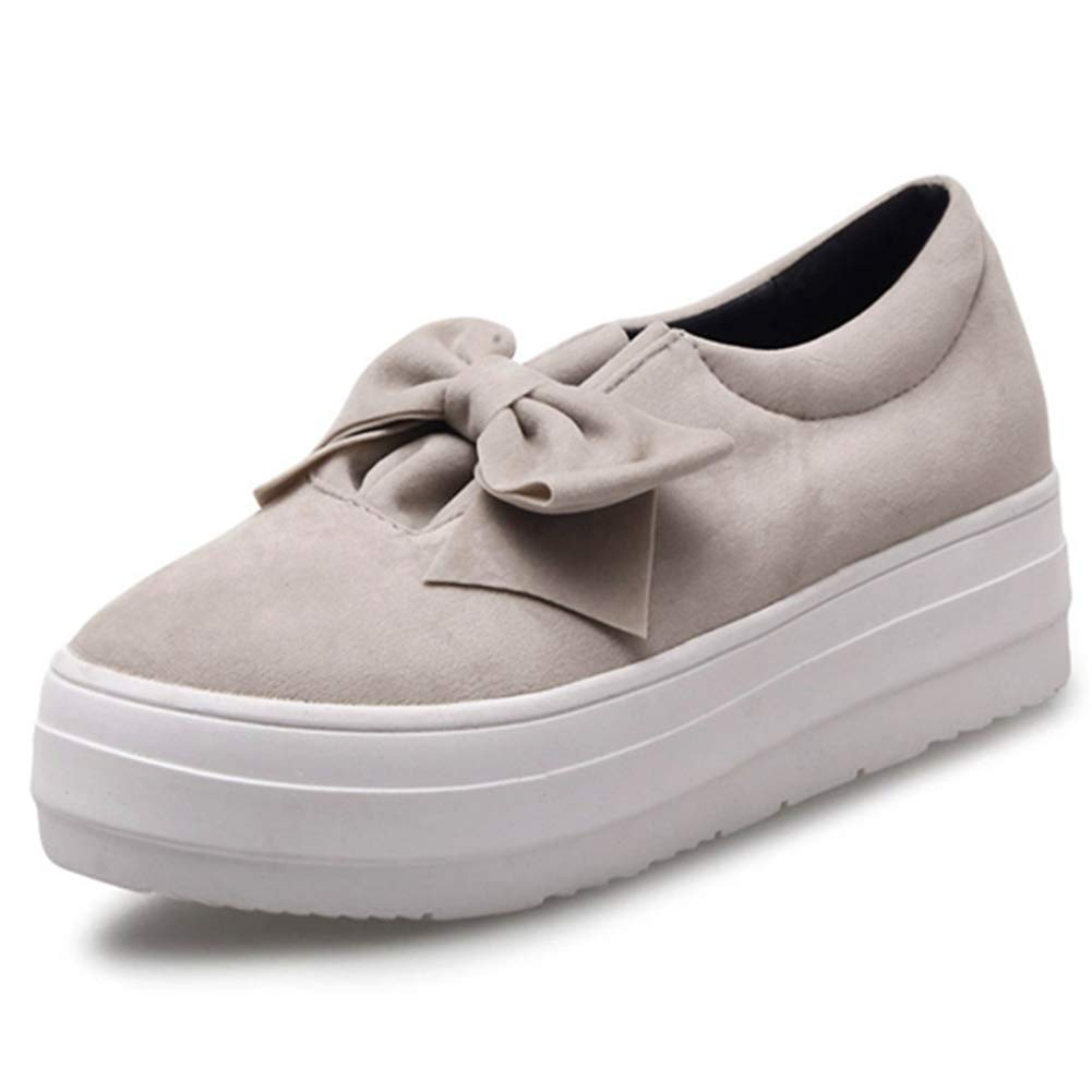 fbf26eda8b25a DecoStain Women's Comfortable Slip On Platform Loafers Sweet Bow ...