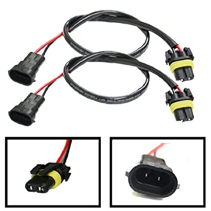 amazon com ijdmtoy h11 (h8 or h9) wire harness for hid ballast to 2 Lamp Ballast Wiring Diagram at Hid Ballast To Stock Wiring Harness