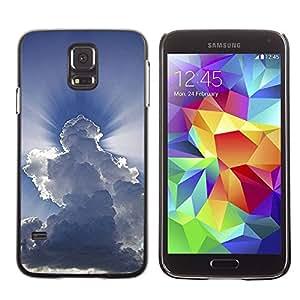 rígido protector delgado Shell Prima Delgada Casa Carcasa Funda Case Bandera Cover Armor para Samsung Galaxy S5 SM-G900 /God Awe Inspiring Clouds Blue Sky/ STRONG