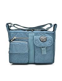 Outreo Women Messenger Bag Girls Satchel Shoulder Bag for Travel Casual Sport Waterproof Cross Body Side Bag Nylon