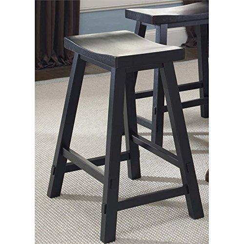 "Liberty Furniture Creations II 30"" Sawhorse Barstool, black"