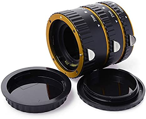 Extreme Close-Ups for Canon EOS 400D 450D 500D 500D 550D 600D 650D 700D 760D First2savvv XJPJ-CCW-08 red Auto Focus Macro Extension Tube Set for Canon EOS DSLR SLR Lens purple Cleaning cloth